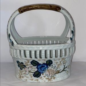 Ethan Allen Ceramic Basket